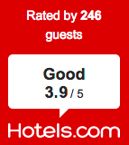 Rated at Hotels.com